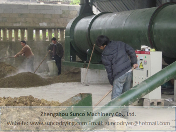 Poultry manure drying machine, poultry manure dryer, chicken manure dryer, rotary poultry manure dryer