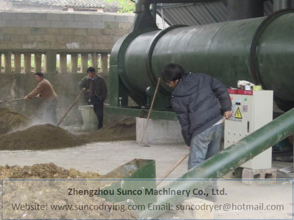 Chicken Manure Dryer in Sichuan